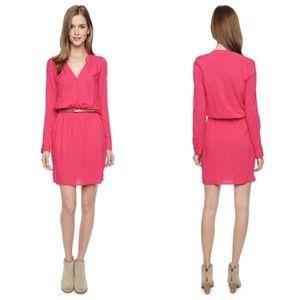 SPLENDID / VOILE CROSS FRONT PINK DRESS